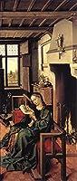 手描き-キャンバスの油絵 - The Werl Altarpiece Right Wing Robert Campin 芸術 作品 洋画 ウォールアートデコレーション -サイズ09