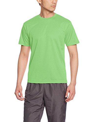 [グリマー] 半袖 メンズ 4.4oz ドライTシャツ (クルーネック) 00300-ACT ライム L (日本サイズL相当)