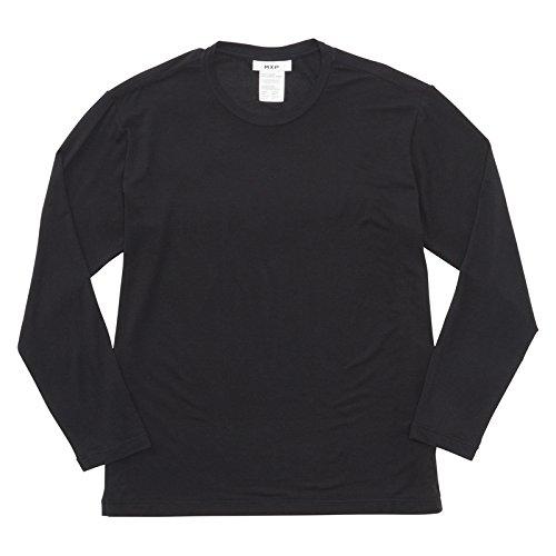 (エムエックスピー)MXP MENS LUXCELL WARM 光電子 ロングスリーブクルーネックシャツ(BK-ブラック、XL)
