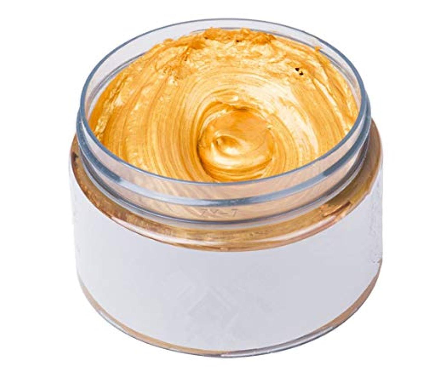 適格ペフ仲良しカルドール ワックス カラーバター ワンタイムヘアカラーの泥 ヘアクリーム 120g カラーリング ヘアトリートメント 全7色 (ゴールド)