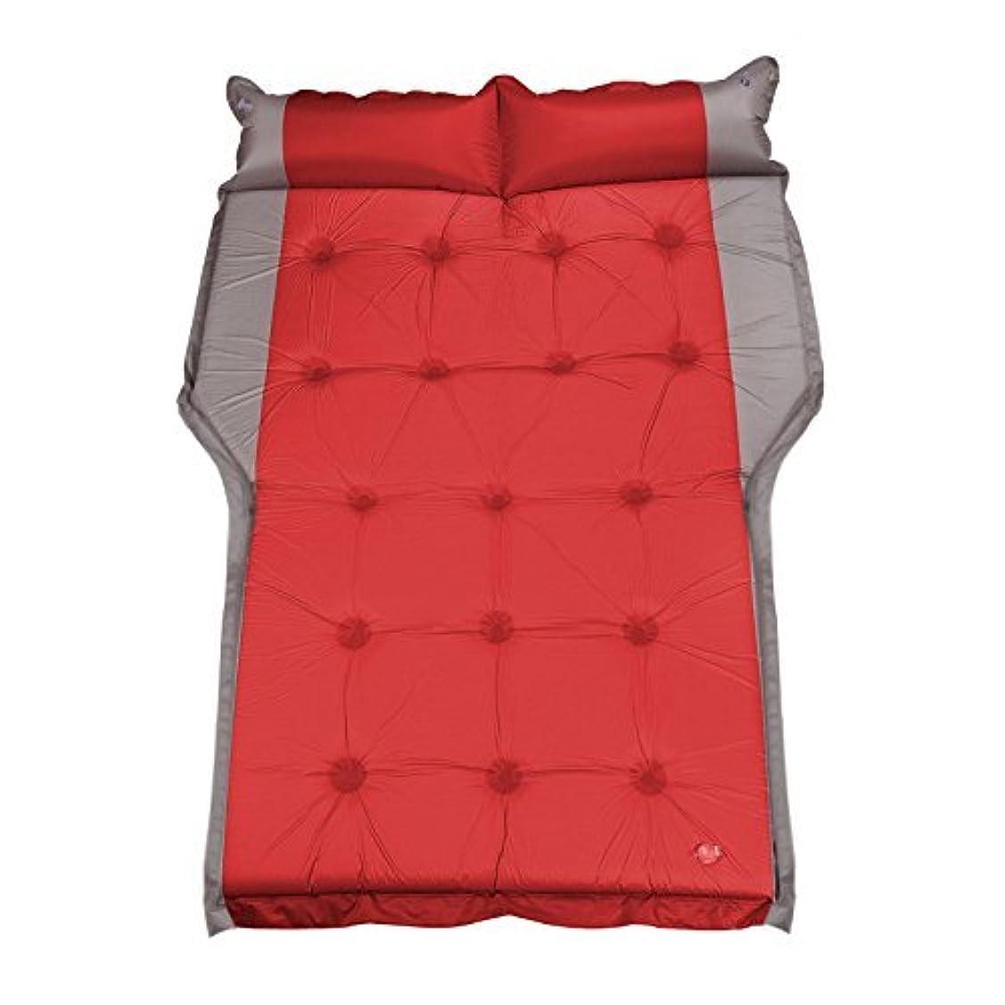 早める好きであるコントロール自動インフレータブルベッドsuv折り畳まれたポータブル屋外昼寝旅行ベッドレジャースリーピングマットバケーションカーマットキャンプ防湿パッドカー用品