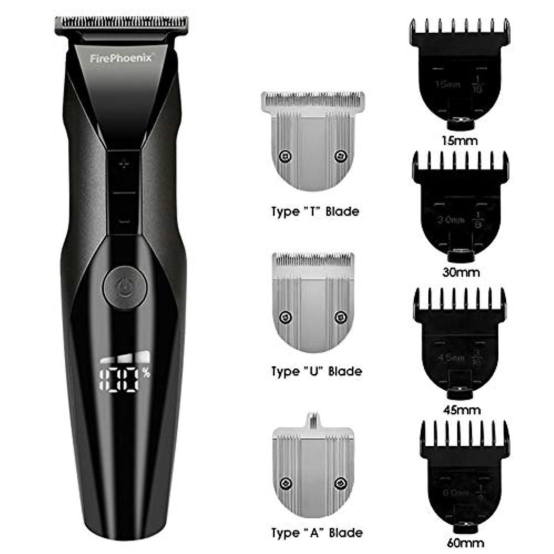 石膏承知しましたハグバリカン、男性のサロンのためのプロフェッショナル充電式のヘアトリマー髭かみそり電気バリカンカッター彫刻髪切断機