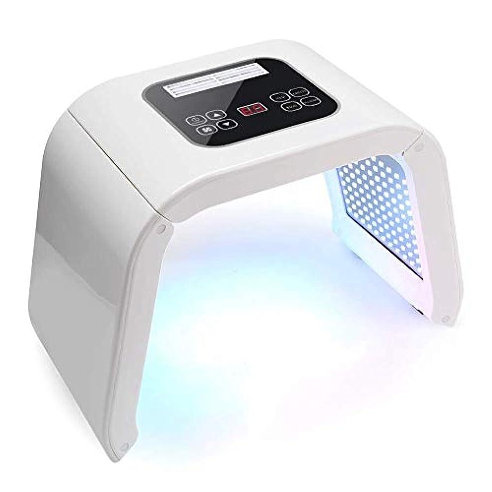 ランチョン電信冗談で若返りの機器を皮膚、7色のLEDライトは、フェイシャルケア美容機マスク、スキンはホームサロン使うスキンケアのツールについては、フェイスネックボディ?フェイシャルケアのためのアンチエイジングスキンケアツールを締め