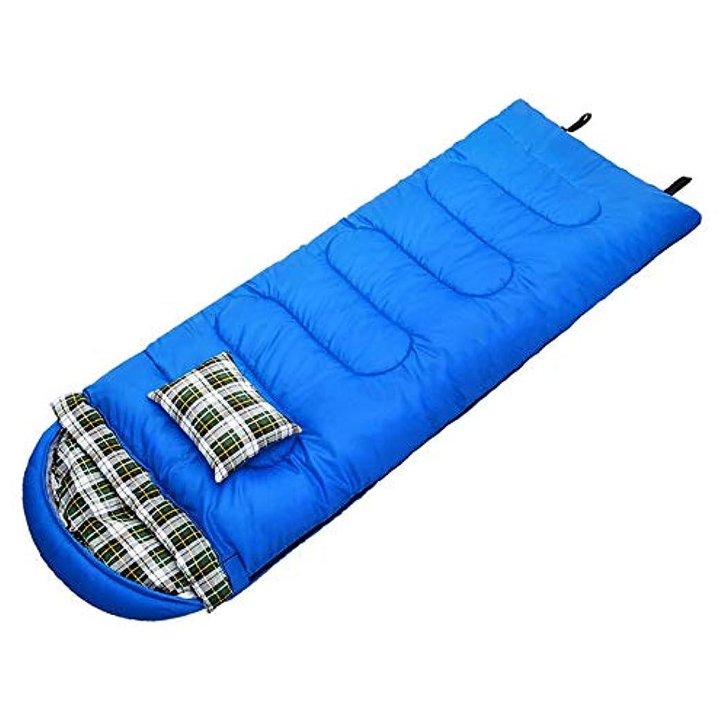ネクタイ抗生物質吸い込む集英会封筒寝袋/枕付き/屋外用/四季旅行キャンプハイキング長方形寝袋(215 * 70cm)