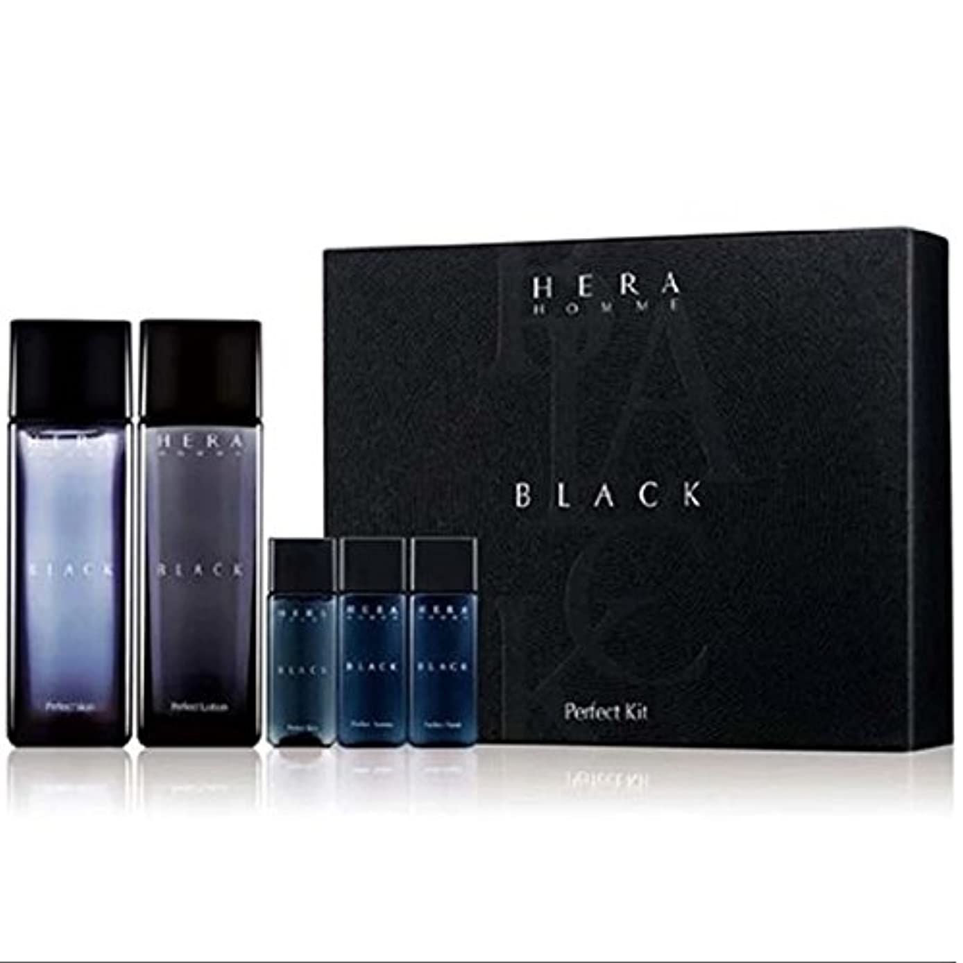 呪いファン織機Hera Homme 2 Black Planning Set (Skin + Lotion + Fluid) K-beauty[並行輸入品]