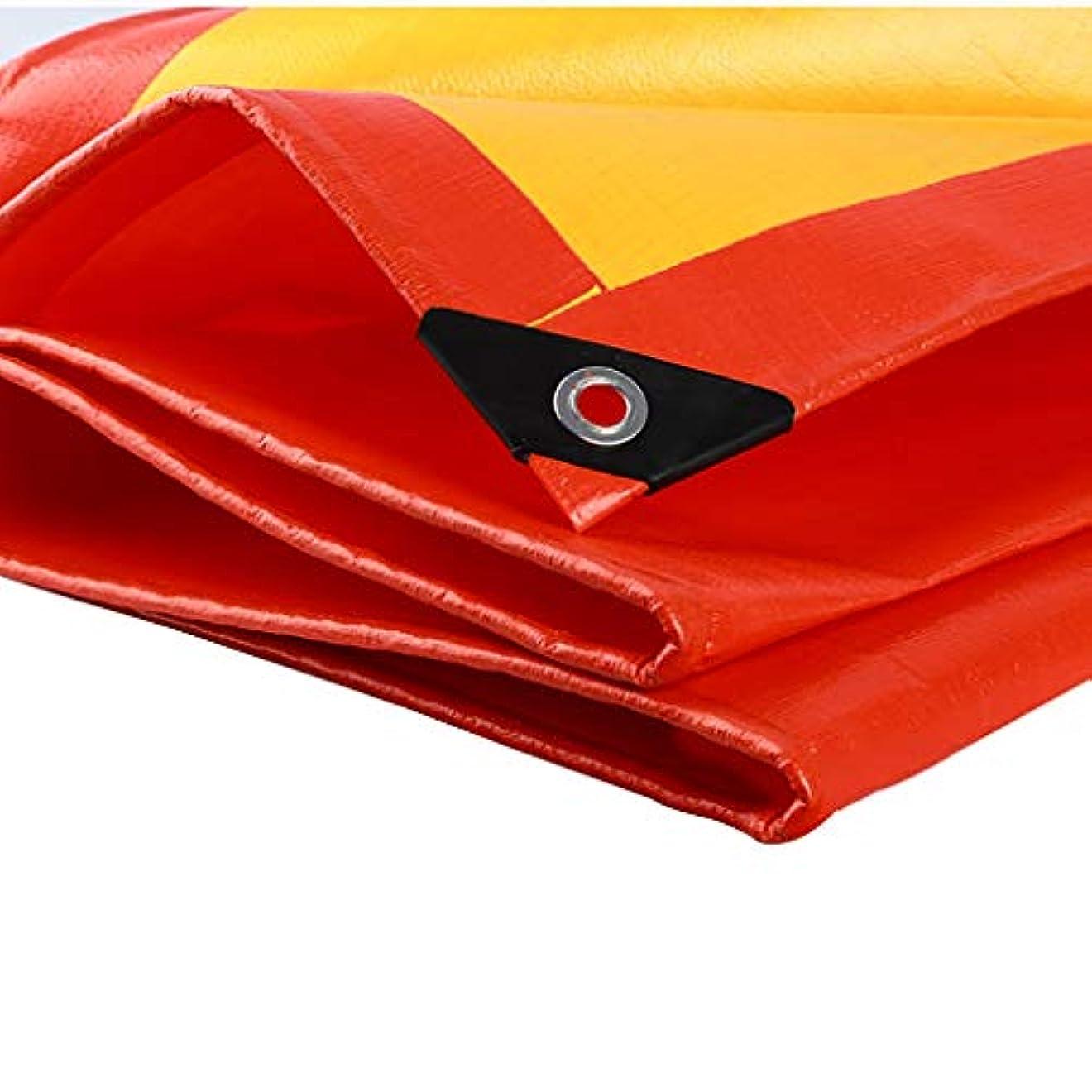 聡明視力セイはさておきタープ 太陽と雨をカバーするキャンプ用防水シート、PEターポリン、引裂抵抗、老化防止、帯電防止 テント (Color : Red, Size : 6m×6m)