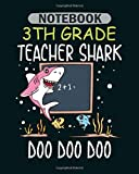 Notebook: 3d shark - 50 sheets, 100 pages - 8 x 10 inches