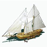 組み立てるキット船模型木製帆船おもちゃハーヴェイセーリングモデル組み立て木製キット DIY D30