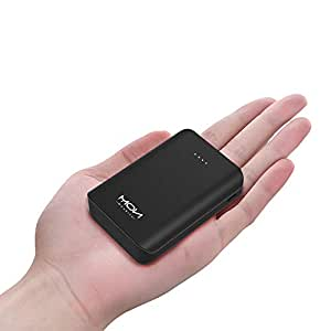 【10000mAh 小型 軽量】モバイルバッテリー 小型 携帯 持ち運び 充電器 コンパクト スマホ バッテリー iPhone/Xperia/Galaxy/Nexus/Sony対応【ブラック】