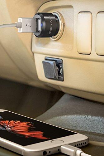 カーチャージャー RAVPower USB 2ポート 24W シガーソケットチャージャー ( 急速充電 、12V 24V 対応、iSmart機能搭載) iPhone iPad Android など対応