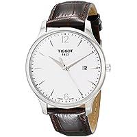 [ティソ] TISSOT 腕時計 トラディション クォーツ シルバー文字盤 レザー T0636101603700 メンズ 【正規輸入品】