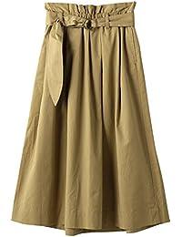 (コーエン) COEN コットン リネン イージー ロング フレア スカート 76706008025 レディース