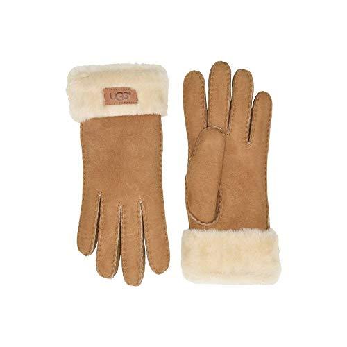(アグ) UGG レディース 手袋・グローブ Turn Cuff Water Resistant Sheepskin Gloves [並行輸入品]