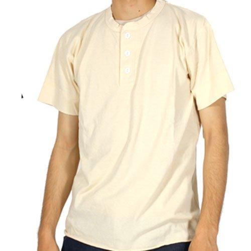 (ヘルスニット)HealthKnit ヘンリーネック Tシャツ 半袖 メンズ M 010.Natural