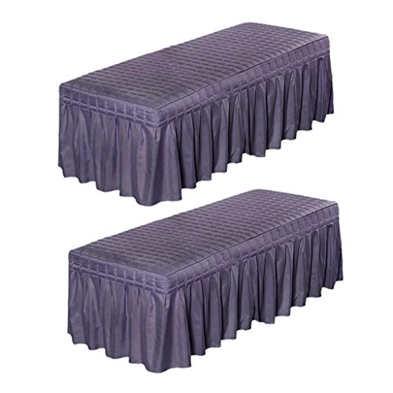 ご近所自分のために角度FutuHome 穴紫180x60cmの2ピース/個マッサージ化粧品表のバランスシートカバー