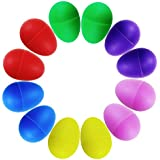 isusserプラスチックボールPercussion Music Maracas Egg Kids Toys、12個、6色