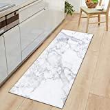 1 PC Anti Slip Kitchen Carpet Welcome Doormat Black White Marble Printed Floor Mat Hallway Portch Rug Door Mats Outdoor