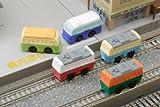 電車とバスの消しゴム(60入)  / お楽しみグッズ(紙風船)付きセット