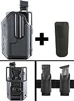 ブラックホークOmnivoreレベル2アクティブ保存Streamlight TLR tlr-1/ tlr-2ライトPistol Gun右ホルスターFits FN FNH fns-40Longslide」、。40s & W、5+ Ultimate Arms Magazineポーチホルダー、ブラック