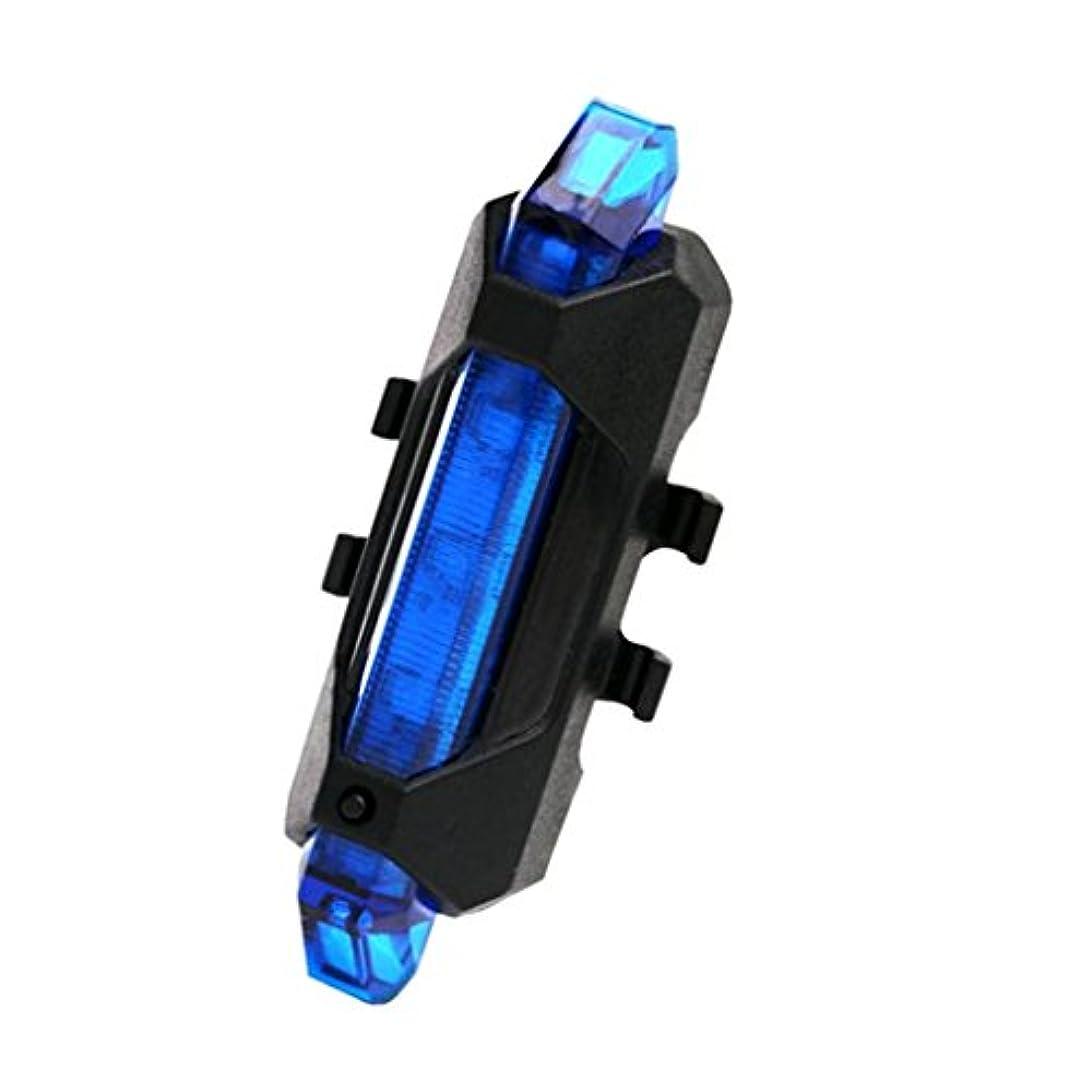 珍しい部埋め込む【ノーブランド 品】LED  自転車 リア テールライト USB 充電式 自転車 安全 ランプ 防水 ブルー