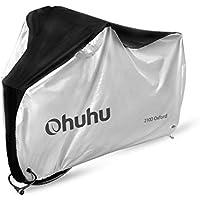 Ohuhu 自転車カバー サイクルカバー 厚手 210D オックス製 生地 防水 破れにくい 防犯 防風 UVカット 29インチまで対応 収納袋付き