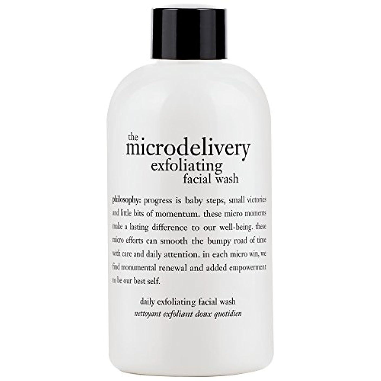 置くためにパックヒントフラップ哲学洗浄を剥離ミクロ送達、240ミリリットル (Philosophy) (x6) - Philosophy The Microdelivery Exfoliating Wash, 240ml (Pack of 6) [並行輸入品]