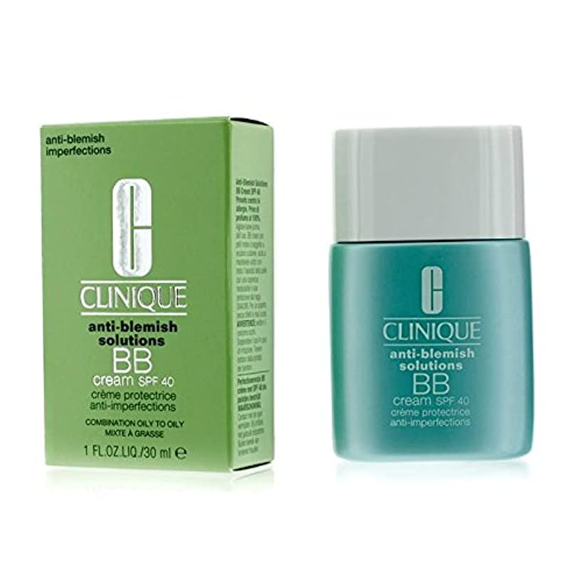 住む出版許可クリニーク Anti-Blemish Solutions BB Cream SPF 40 - Medium Deep (Combination Oily to Oily) 30ml/1oz並行輸入品
