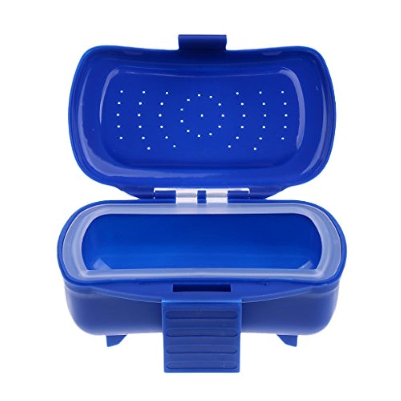 メンタリティジュース光景SONONIA ポータブル ミミズ ワーム ベイト ルアー  フィッシング タックル ボックス  プラスチック  ブルー