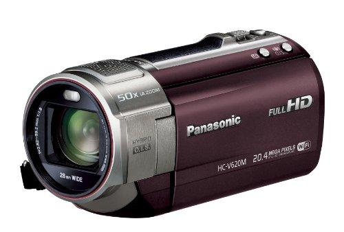 Panasonic デジタルハイビジョンビデオカメラ V620 内蔵メモリー32GB ブラウン HC-V620M-T
