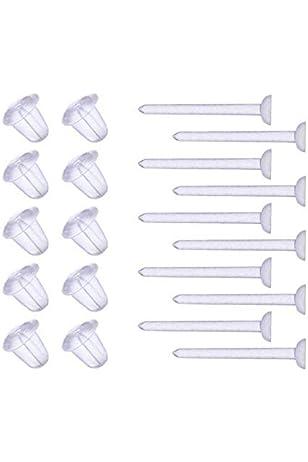 4pcs 20g Stud Earrings Cartilage Piercing Flexible Bioflex Clear Ear Lobe Retainer Invisible Jewelry bodyjewellery retainer ear A034 UV 20g L4