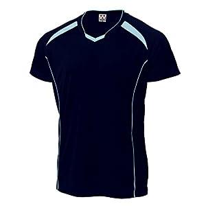 wundou(ウンドウ) P-1610バレーボールシャツ P-1610 81ネイビー×サックス 130