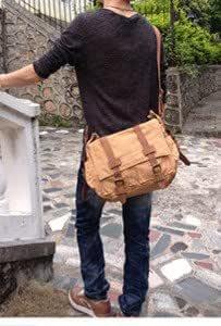 帆布シリーズ 高級キャンバスPCバッグ 【カラーはcoffee】斜め掛け ディリー 旅行 通学 通勤 高校生 大学生 スクールバッグ レディース メンズ LH-wore