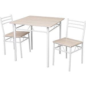 ダイニングテーブルセット 3点セット(チェア2脚・テーブル幅75) 幅75×奥行75×高さ74 ナチュラル ASP-75