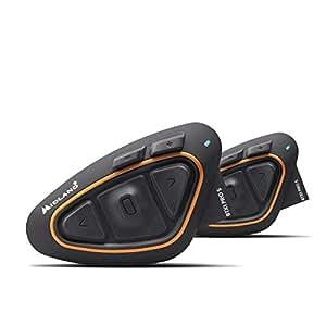 MIDLAND BT X1PRO S ツイン C.1411.11 バイク用インカム Bluetooth ヘルメットの中で音楽が聴ける 通話ができる 同時通話4人まで可能 (4人目はBT X2 PRO S) インターカムモード最大通信距離800m 携帯電話2第同時待ち受け可能 (A2DP 1台_HFP 1台) ワイドFMラジオ対応 高音質Hi-Fiスピーカー標準搭載 最新ノイズキャンセルMWe