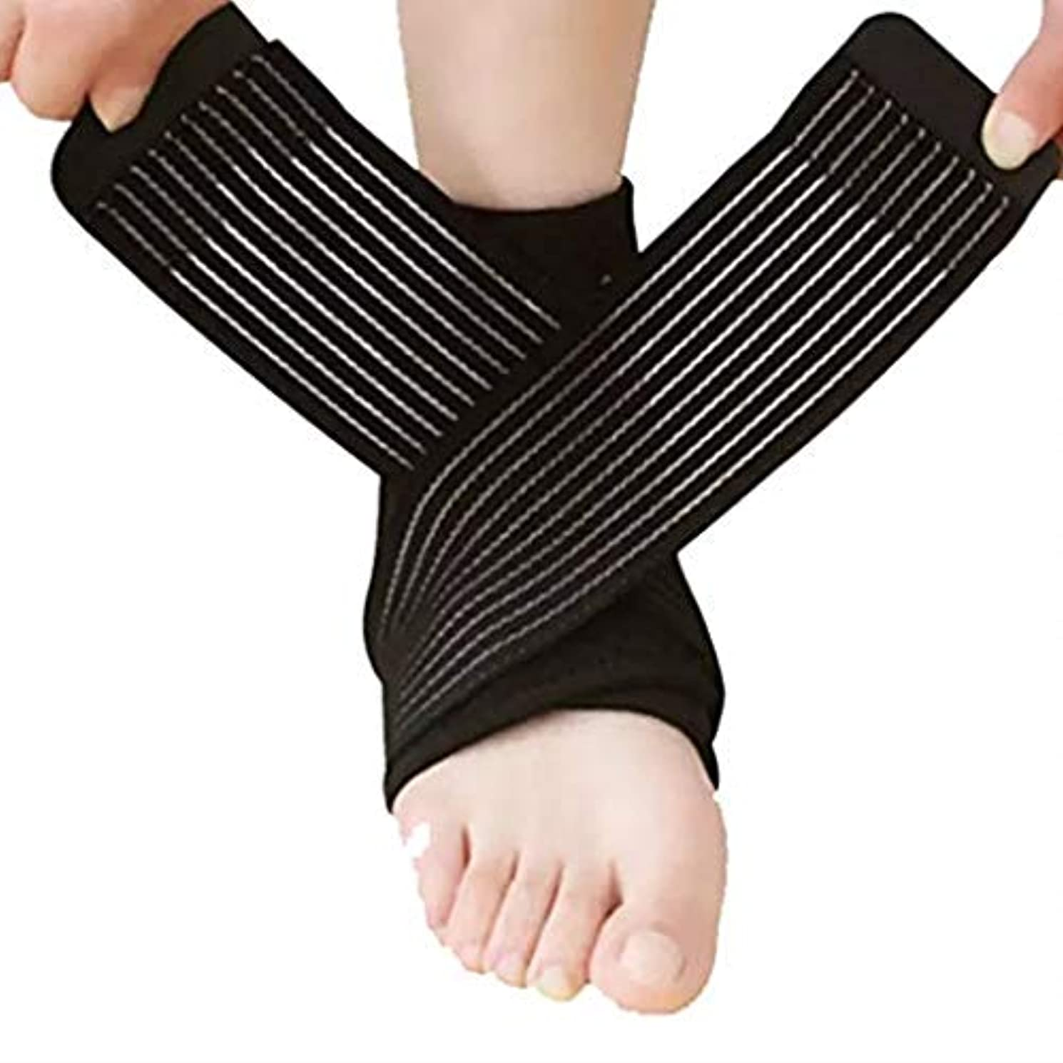 吸い込む消毒する戦略足首サポート調節可能な足首ブレース通気性のあるナイロン素材伸縮性があり快適な1サイズスポーツに最適慢性的な足首の捻Sp疲労からの保護