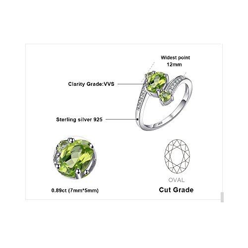 JewelryPalace 1.05ct 天然石 3石 婚約 誕生石 8月 ペリドット 指輪 スターリング シルバー 925 リング レディース 人気 サイズ 14