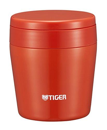 タイガー 魔法瓶 真空 断熱 スープ ジャー 250ml 保温 弁当箱 広口 まる底 チリレッド MCL-B025-RC Tiger