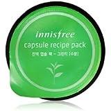 innisfree(イニスフリー) CAPSULE RECIPE PACK GREEN TEA 液 カプセル パック グリーンティー [水分] 10ml