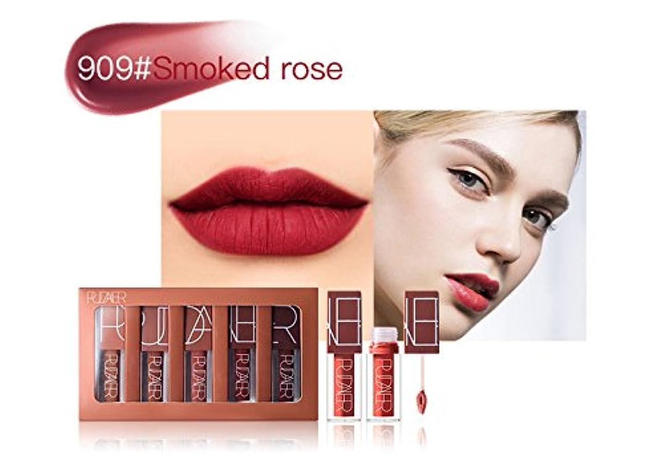 豚適応する枯渇No #909 Hot Brand Long Lasting Velvet Lips Tint Liquid Lipstick Matte Beauty Cosmetics Sexy Nude Pigment Matte...