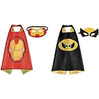 Ironman &ウルヴァリンコスチュームケープ – 2種、2マスクwithギフトボックスbyスーパーヒーロー