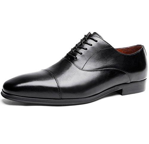 [タレークス] Talerk ビジネスシューズ メンズ 紳士靴 革靴 本革 ストレートチップ ブラック 24.5cm