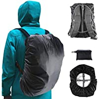 Frelaxy Waterproof Backpack Rain Cover, Upgraded Vertical Adjustable Buckle Strap & Silver Coated, for Hiking, Camping, Traveling, Outdoor Activities