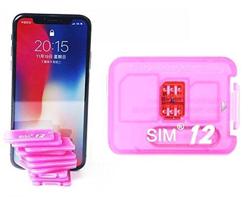 R- Teyissalia SIM12 for iOS11-8 4G iPhone X / 8 / 8 Plus / 7 / 7 Plus / 6S / 6S Plus / SE / 6 / 6 Plus / 5S sim ロック解除アダプタ SIM Unlock アンロック SIMフリー 解除アダプター LTE 4G対応 最新品