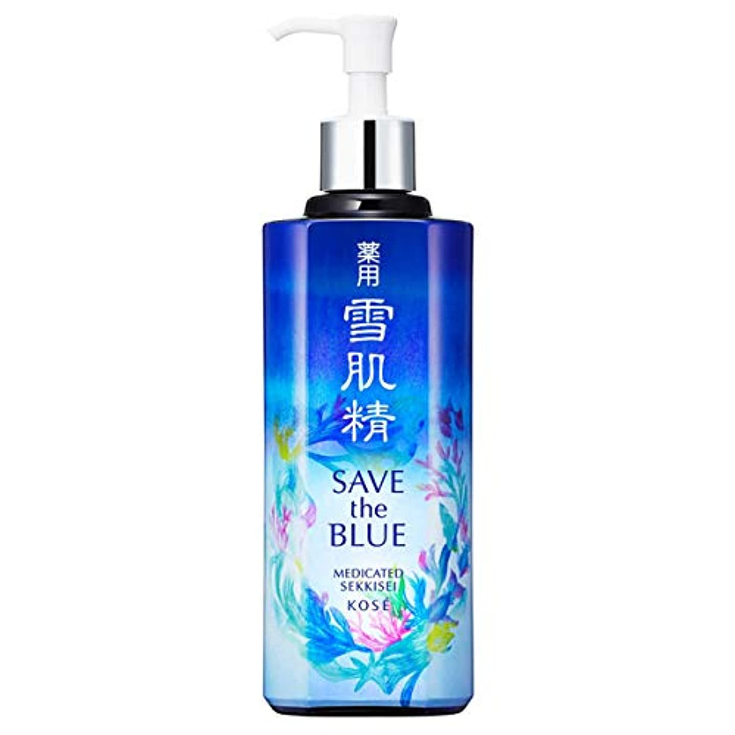 ブレーキ田舎腸コーセー 雪肌精 化粧水 「SAVE the BLUE」デザインボトル(みずみずしいタイプ) 500ml【限定】 [並行輸入品]