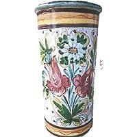 アンブレラスタンド 傘たて 陶器 フィオーレ 花柄 イタリア 傘立 クラシック