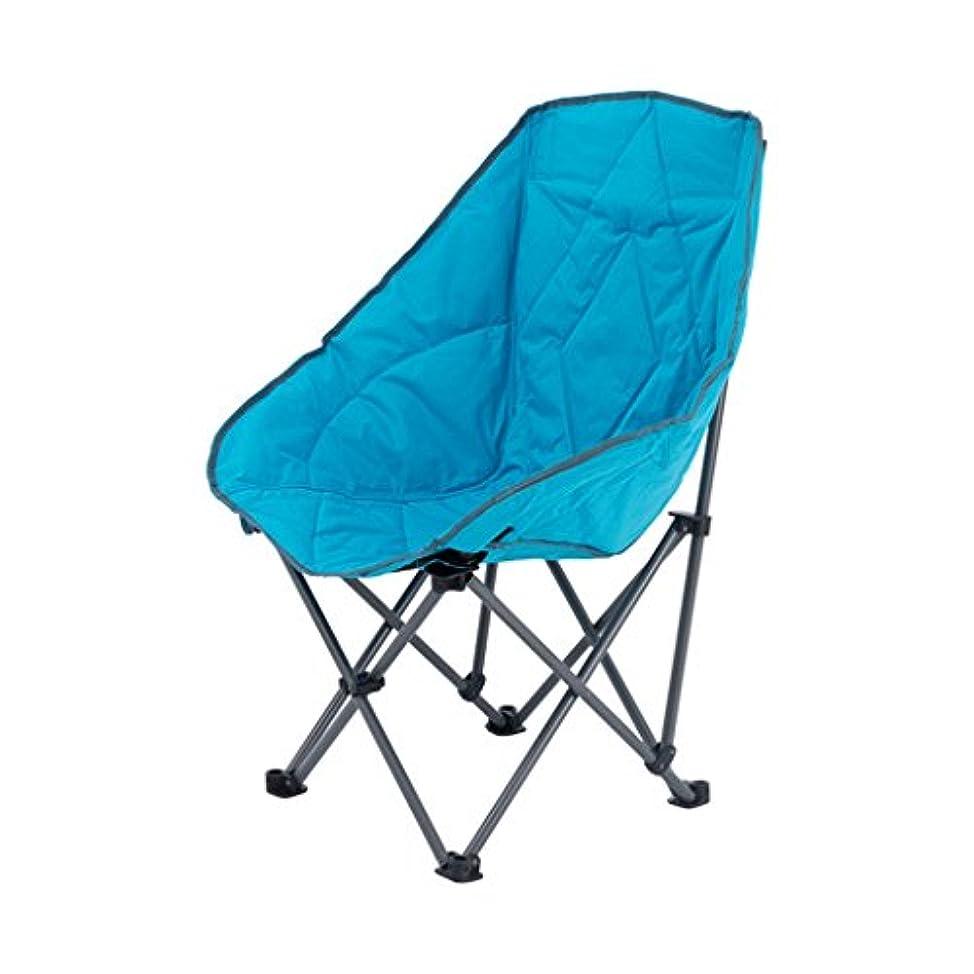 写真を撮る有名人柄ロッキングチェア 折りたたみチェアキャンプチェアポータブルサンラウンジャーキャンプビーチガーデンピクニックフィッシング、ベアリング100kg、ブルー