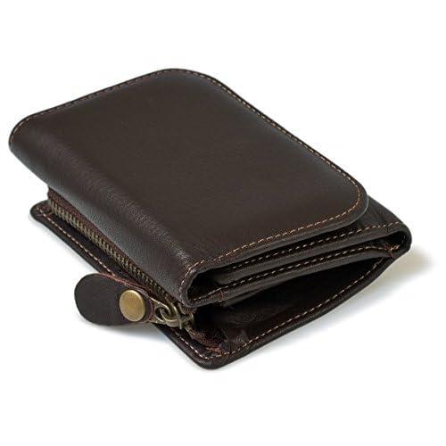 asoboze(アソボーゼ) レザー 財布 日本製 ウォレット メンズ 三つ折り ポニー調 AV-M139(dブラウン)