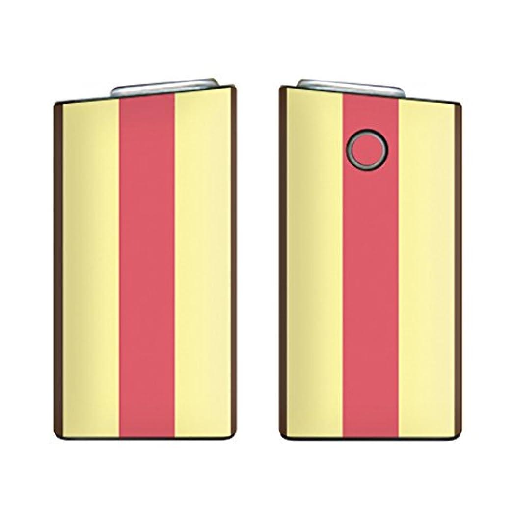 ピルバクテリア砲兵ガールズネオ glo mini グローミニ シリーズ2 series2 スキンシール ラミネート加工有 全面セット (ストライプ/チョコストロベリーアイスクリーム) glomini-COM-5009