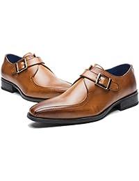 OvMax ビジネスシューズ メンズ レザーシューズ 紳士靴 革靴 本革 ウイングチップ モンクストラップ 通気性