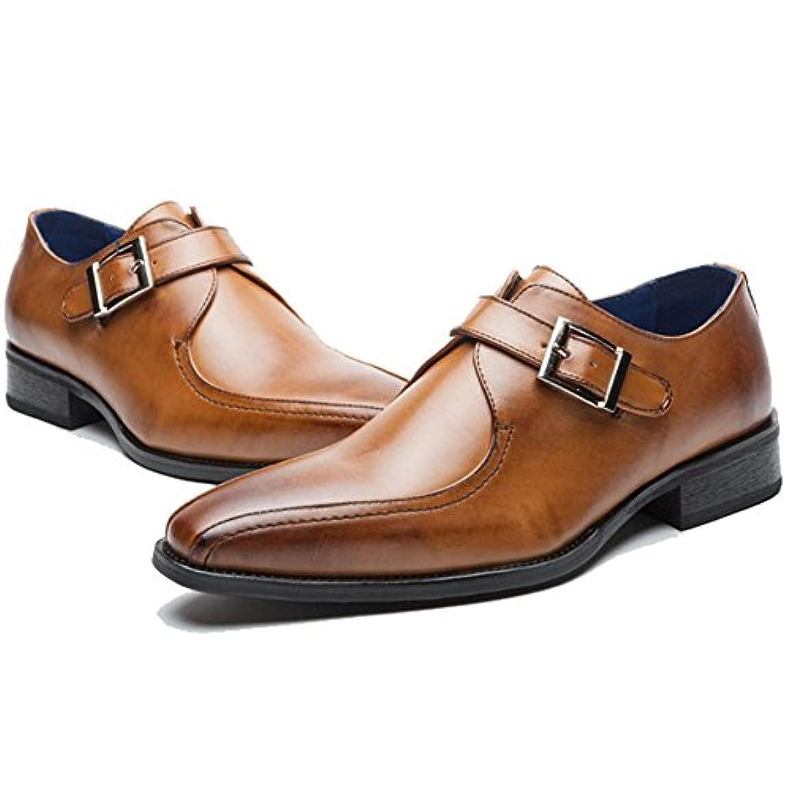 枯渇花束報奨金CHENGFA ビジネスシューズ メンズ レザーシューズ 紳士靴 革靴 本革 ウイングチップ モンクストラップ 通気性